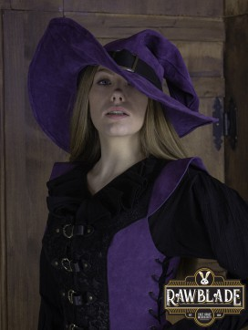 Wikka the Witch Hat Split Leather- Purple
