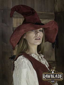Wikka the Witch Hat Split Leather - Red