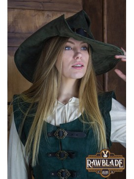 Wikka the Witch Hat Split Leather - Green