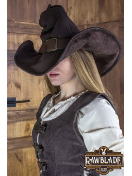 Wikka the Witch Hat Split Leather - Brown