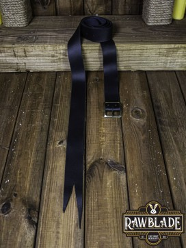 Guzman Long Medieval Belt  Black