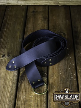 Lara Round Ring Belt - Black