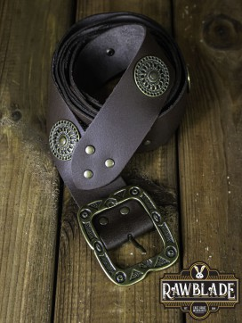 Noble Belt With Ornaments - Brown