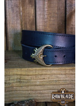 Einar Viking Ornate Belt Black