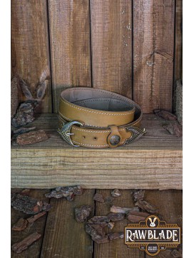 Hrothgar Viking Ornate Belt - Light Brown