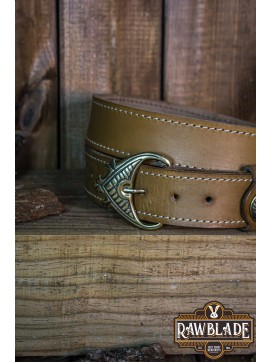 Einar Viking Ornate Belt Light Brown