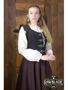 Julienne Leather  Jerkin Short - Black