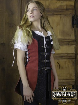 Ylenne Deluxe long Doublet - Red/Black