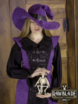Ylenne Deluxe long Doublet - Black/Purple