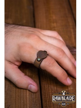 Lugh Leather Ring - Light Brown