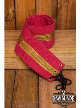 Jeanne fabric belt - Red