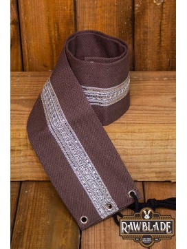 Jeanne fabric belt - Brown