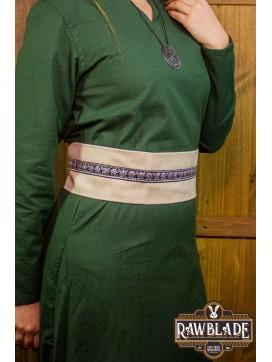 Jeanne fabric belt - White