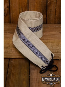 Jeanne fabric belt - White
