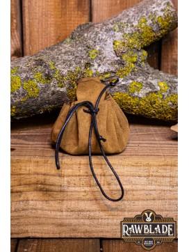 Traveler's  Coin Bag - Light Brown