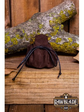 Traveler's  Coin Bag - Brown