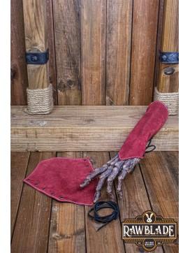 Vryla Split Leather Bracelets - Red