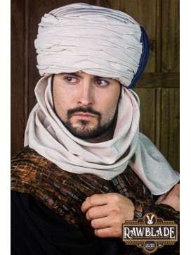 Vaishir Turban White and Blue