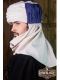 Vaishir Turban White and Blue