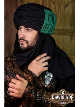 Vaishir Turban - Black and Green