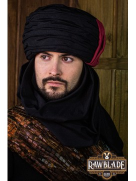 Vaishir Turban Black and Bordeaux