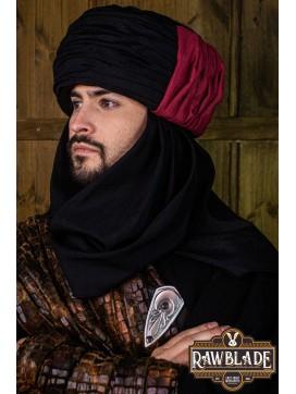 Vaishir Turban - Black and Bordeaux