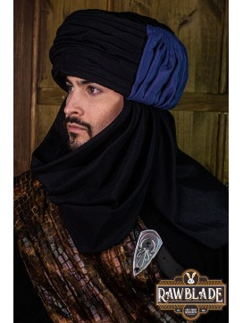 Vaishir Turban Black and Blue
