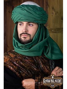 Azraq Turban - White and Green
