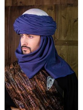Azraq Turban - White and Blue