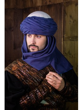 AzraqTurban White and Blue