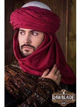 Azraq Turban - White and Red