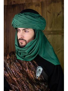 Azraq Turban - Black and Green