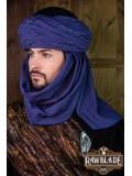 Azraq Turban Black and Blue