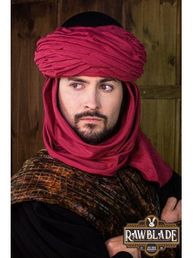 Azraq Turban Black and Red