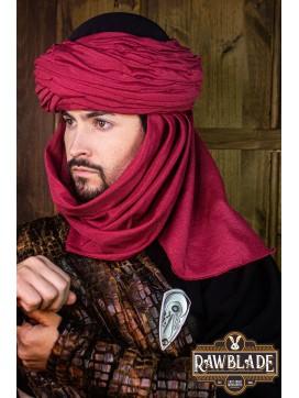 Azraq Turban - Black and Red