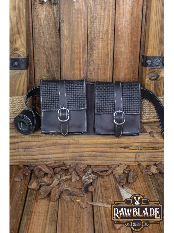 Valiant Double belt Bag, Black