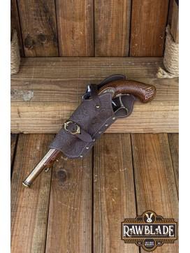 Jack Rackham Pistol Holder Deluxe Left - Brown