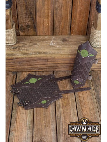 Beljant Bracer Brown and Forest Green
