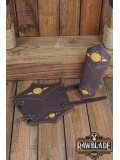Beljant Bracer - Brown and Summer Yellow