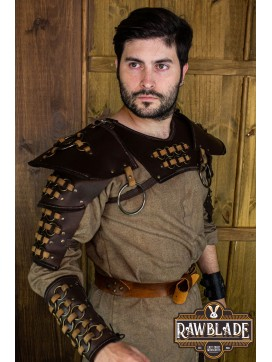 Fighter Gorget with Pauldrons - Brown